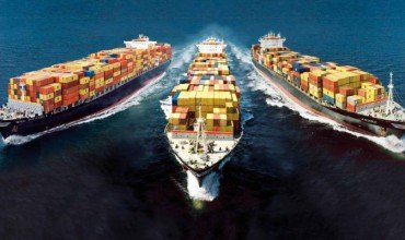 Cargo Ships from Drone