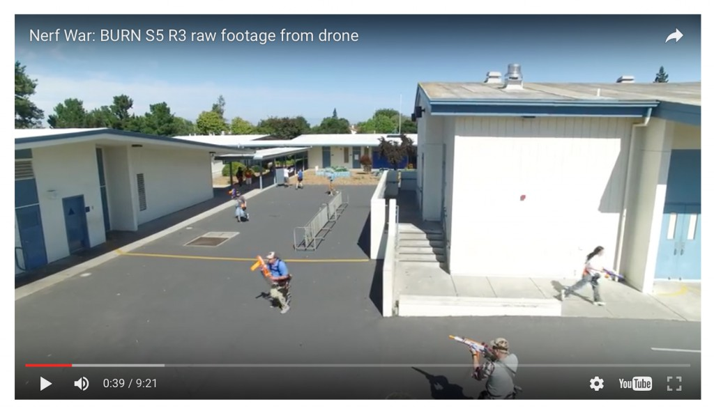Nerf Dart Battle Documented from a Drone