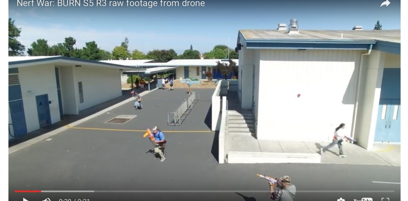 Nerf Battle From Drone POV