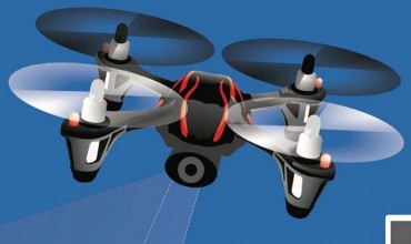 Illustrated Camera Drone
