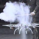 Drones in a Wind Vortex