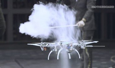 Drone in Wind Tunnel