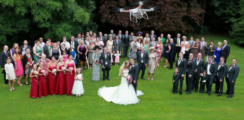Wedding Party From Drone