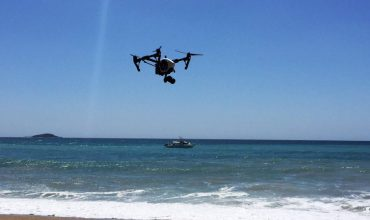 Drone Over Ocean