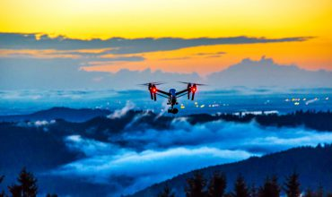 Drone over mountains