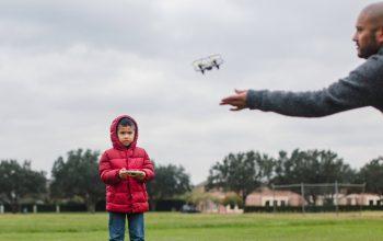 Kid Flying Drone